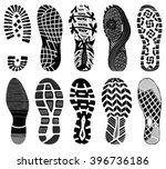 shoe tracks   illustration.... | Shutterstock .eps vector #396736186