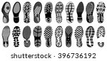 shoe tracks   illustration.... | Shutterstock .eps vector #396736192