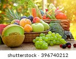 Small photo of Healthy food, healthy eating - fresh organic fruits and vegetables