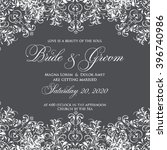 wedding card or invitation with ... | Shutterstock .eps vector #396740986