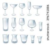 alcohol drinks glasses set... | Shutterstock .eps vector #396741886