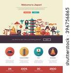 welcome to japan travel one... | Shutterstock .eps vector #396756865