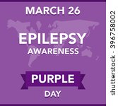 purple day epilepsy awareness | Shutterstock .eps vector #396758002