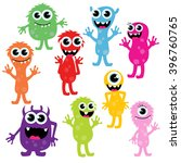 vector collection of cute... | Shutterstock .eps vector #396760765