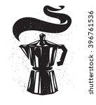 espresso pot vintage coffee... | Shutterstock .eps vector #396761536