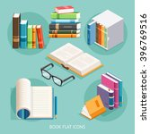 book flat icons set. vector... | Shutterstock .eps vector #396769516