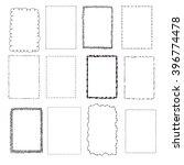 set handdrawn frames   Shutterstock .eps vector #396774478