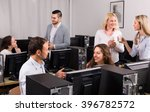 positive business team... | Shutterstock . vector #396782572