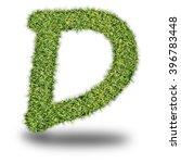 d uppercase alphabet made of...