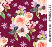 seamless pattern with flowers... | Shutterstock . vector #396803236
