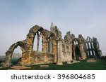 Whitby Abbey Castle A Ruined...
