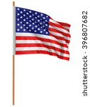 highres 3d rendering of us flag ... | Shutterstock . vector #396807682