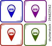 vector laptop map pointer   Shutterstock .eps vector #396825562