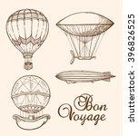 set of vintage vector hand...   Shutterstock .eps vector #396826525