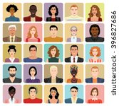 set of vector icons   avatars... | Shutterstock .eps vector #396827686