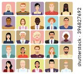avatars in cartoon style. set... | Shutterstock .eps vector #396827692