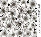 seamless floral pattern  eps 10 | Shutterstock .eps vector #396831442