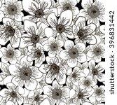 seamless floral pattern  eps 10 | Shutterstock .eps vector #396831442
