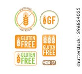 collection gluten free seals.... | Shutterstock .eps vector #396834025