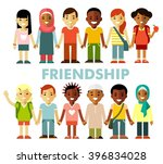 friendship concept with... | Shutterstock .eps vector #396834028