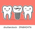 cartoon dental implant and... | Shutterstock .eps vector #396842476
