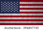 us  flag with the effect of... | Shutterstock .eps vector #396847735