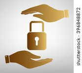 lock sign golden effect. | Shutterstock .eps vector #396848872