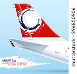 airplane tail. template for... | Shutterstock .eps vector #396850906