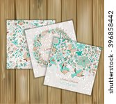 set of banners with floral... | Shutterstock .eps vector #396858442