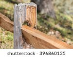Old Worn Wooden Split Rail...