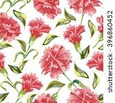 vector seamless carnation... | Shutterstock .eps vector #396860452