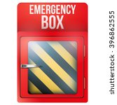 empty red emergency box with in ... | Shutterstock .eps vector #396862555