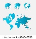 world map | Shutterstock . vector #396866788