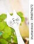 White Cat Decoration  Window ...