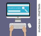 conceptual illustration. job... | Shutterstock .eps vector #396878686
