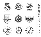 vector set of drone flying club ... | Shutterstock .eps vector #396879238