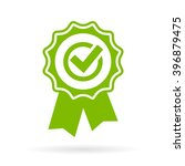 green approval certificate... | Shutterstock .eps vector #396879475