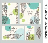 vector set  backgrounds with... | Shutterstock .eps vector #396885316