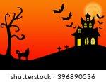 haunted halloween house | Shutterstock . vector #396890536