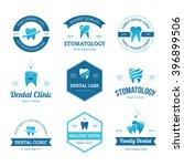 set of blue dental clinic ... | Shutterstock .eps vector #396899506