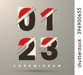 number font template. set of... | Shutterstock .eps vector #396900655