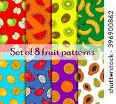 set of seamless fruit and berry ... | Shutterstock . vector #396900862