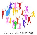 win win team achievement  | Shutterstock .eps vector #396901882