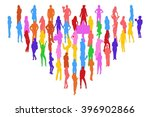 isolated many people  | Shutterstock .eps vector #396902866