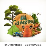 camping. adventure time  vector ... | Shutterstock .eps vector #396909388