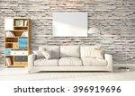 modern bright interior . 3d... | Shutterstock . vector #396919696