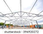 metal frame of an industrial... | Shutterstock . vector #396920272