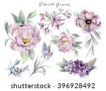 Watercolor Flowers Set....