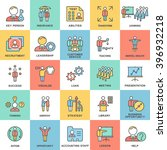 icons business and kinds of... | Shutterstock .eps vector #396932218