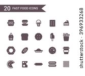 fast food icon set vector...   Shutterstock .eps vector #396933268